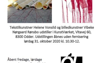 Fællesudstilling i Odder kunstforening 'Trådens Nerve'